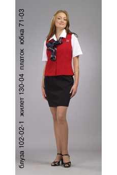 Блуза 102-02-1 жилет 130-04 платок юбка 71-03