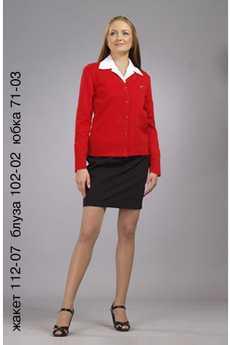 Жакет 112-07 блуза 102-02 юбка 71-03