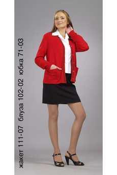 Жакет 111-07 блуза 102-02 юбка 71-03