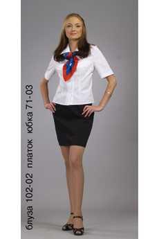 Блуза 102-02 платок юбка 71-03