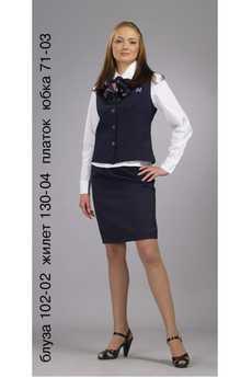 Блуза 102-02 жилет 130-04 платок юбка 71-03