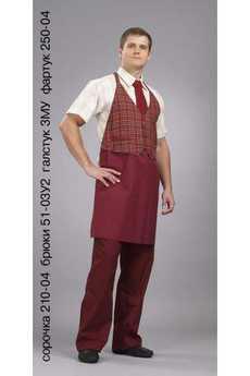 Сорочка 210-04; брюки 51-03У2; галстук 3МУ; фартук 250-04