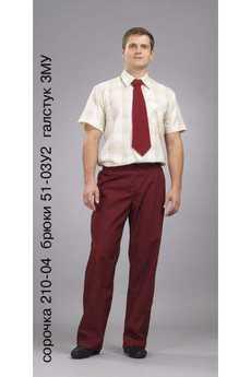Сорочка 210-04; брюки 51-03У2; галстук 3МУ