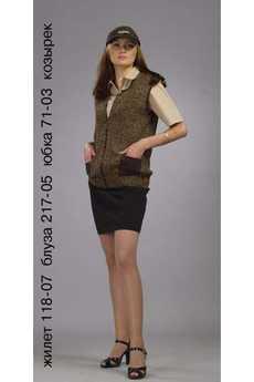 Жилет 118-07; блуза 217-05; юбка 71-03; козырек