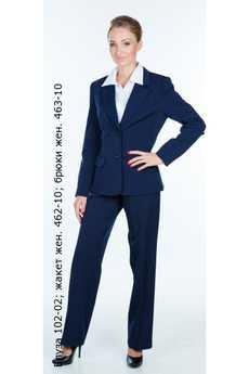 Блуза 102-02; жакет жен. 462-10; брюки жен. 463-10