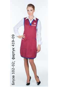 Блуза 102-02; фартук 419-09