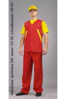 Бейсболка; футболка 330; жилет 127-03; п/комбинезон 100-02
