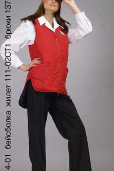 Блуза 4-01; бейсболка; жилет 111-02СТ1; брюки 137-05СТ