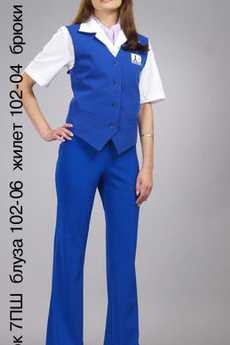 Платок 7ПШ; блуза 102-06; жилет 102-04; брюки 75-03