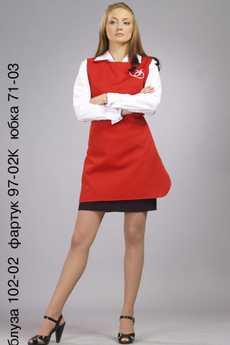 Блуза 102-02; фартук 97-02К; юбка 71-03