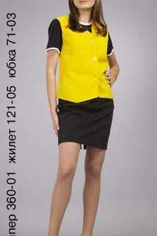 Джемпер 360-01; жилет 121-05; юбка 71-03